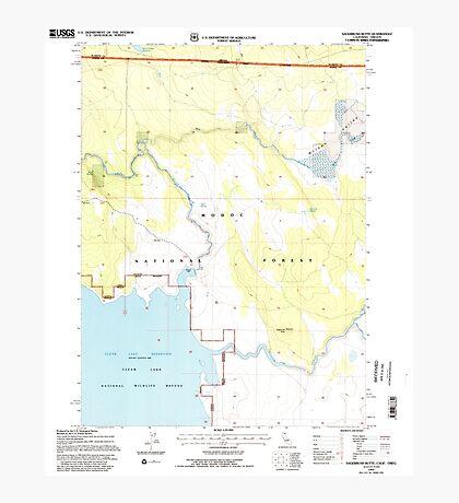 USGS TOPO Map California CA Sagebrush Butte 294897 1993 24000 geo Photographic Print