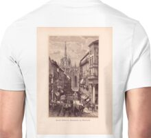 Antique Engraving Old Print Milano Italy Unisex T-Shirt