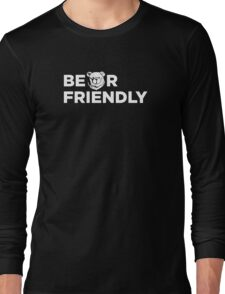Robust Bear friendly white Long Sleeve T-Shirt