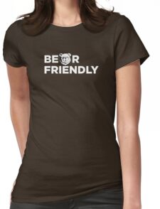 Robust Bear friendly white Womens Fitted T-Shirt