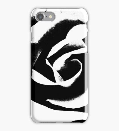 Rose - Rosenblüte - schwarz - weiß - Rosenblätter iPhone Case/Skin