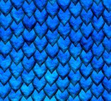Mermaid Scales - Blue Sticker