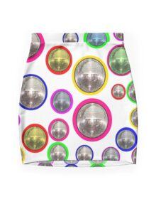 Mirror Balls Mini Skirt