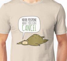 Sloth Wisdom.  Unisex T-Shirt