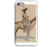 EDWARD BOREIN  Vaquero (circa ) - watercolor on paper iPhone Case/Skin