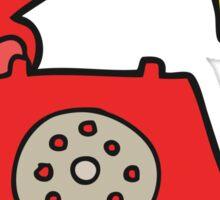 cartoon ringing telephone Sticker
