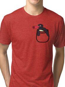 Pocket Penguin Tri-blend T-Shirt