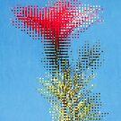 Pixelated Hibiscus by Antonio Arcos aka fotonstudio