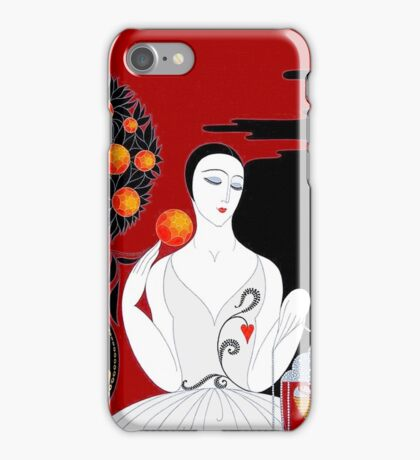 FLAPPER; Vintage Style and Fashion Print iPhone Case/Skin
