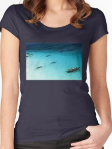 White Beach, Boracay Women's Fitted Scoop T-Shirt