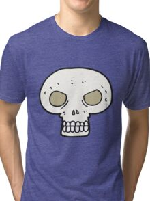 cartoon skull Tri-blend T-Shirt