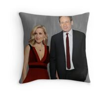 Gillian Anderson and David Duchovny attend Emmy Awards 2017 Throw Pillow