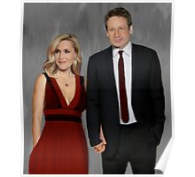 Gillian Anderson and David Duchovny attend Emmy Awards 2017 Poster