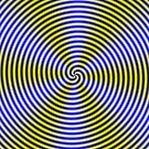 Yellow and Blue Swirl by Objowl