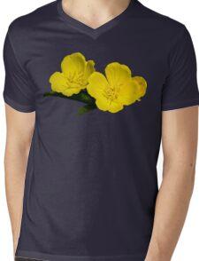 Yellow Primrose Flowers Mens V-Neck T-Shirt