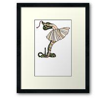 Snake Ballerina Tutu Framed Print