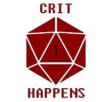 CRIT Happens (Red) Photographic Print