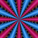 16 Segments in Pink and Blue by Objowl