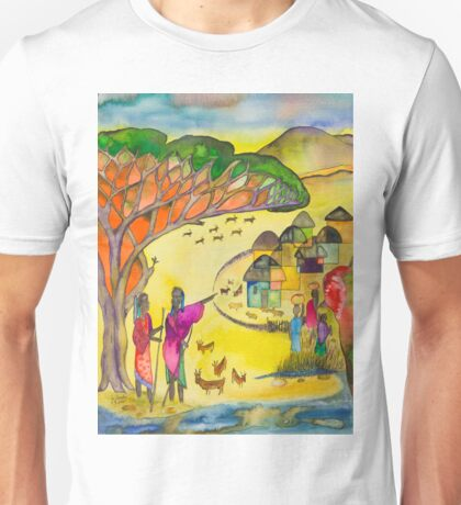 Village in the steppe Unisex T-Shirt