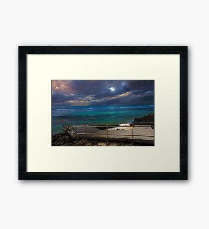 Mettams Pool Beach Ramp  Framed Print