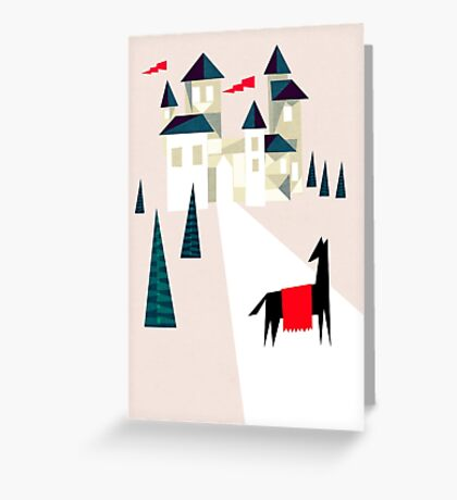 The horse and his castle Greeting Card
