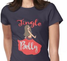 Jingle Belly Dancer Christmas Womens Fitted T-Shirt