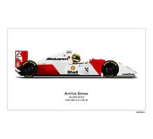 McLaren MP4/8 - Ayrton Senna Art Print with driver Photographic Print
