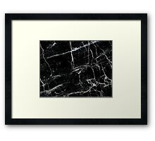 BLACK MARBLE 2 Framed Print