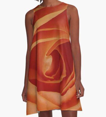 Orange Rose A-Line Dress