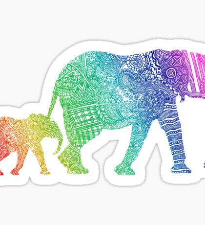 Zentangle Elephants Sticker