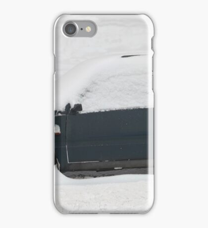 small car covered with snow iPhone Case/Skin