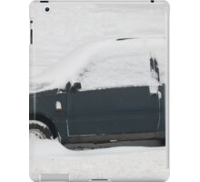 small car covered with snow iPad Case/Skin