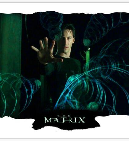 Matrix Attitude Bending Energy - Keanu Reeves Sticker