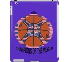 Official basketball with American flag iPad Case/Skin