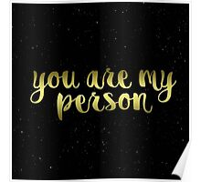'You are my person' Poster