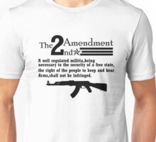 Cool 2nd Amendment Guns black Unisex T-Shirt