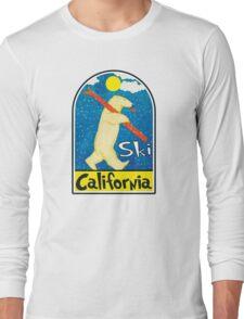SKI CALIFORNIA VINTAGE POLAR BEAR SKIING BIG BEAR TAHOE MAMMOTH MOUNTAIN Long Sleeve T-Shirt