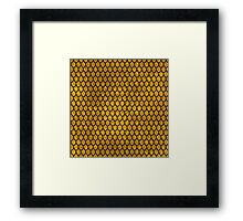 Mermaid Scales - Gold Framed Print