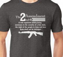 Cool 2nd Amendment Guns white Unisex T-Shirt
