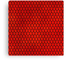 Mermaid Scales - Red Canvas Print