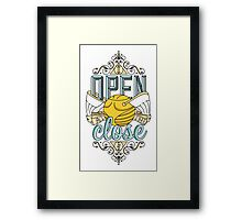 I Open At The Close Framed Print