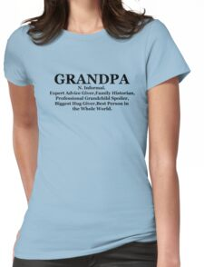 Definition of a Grandpa Shirt Fathers Day black Womens Fitted T-Shirt