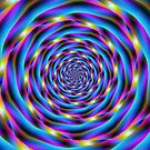 Vortex in Blue and Violet by Objowl