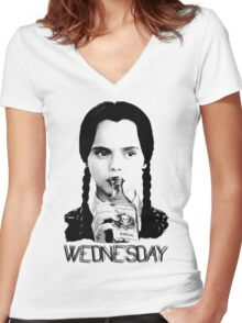 Wednesday Addams   The Addams Family Women's Fitted V-Neck T-Shirt