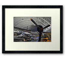 Fly Navy-Hell Cat Framed Print