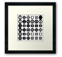 geometronology chart 1 Framed Print