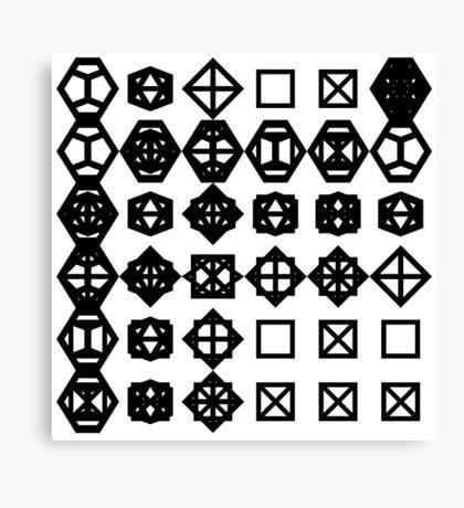 geometronology chart 1 Canvas Print