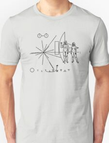 Rock the Universe - modified pioneer plaque T-Shirt