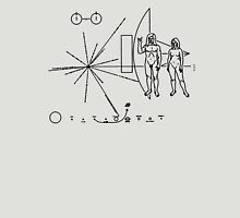 Rock the Universe - modified pioneer plaque Unisex T-Shirt