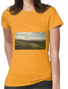 A Neolithic Grass Hill Ampitheatre Wiltshire Womens Fitted T-Shirt